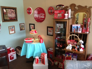 Hilltop Collectibles has a large vintage Coca-Cola collection
