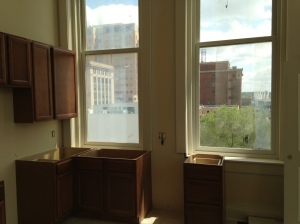 Even the kitchen windows at the Renwick offer nice downtown views.