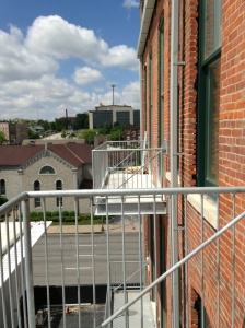 Balconies on the back of Renwick also offer downtown views.