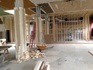 Interior work on the restaurant is under way.