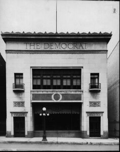 The Democrat building as it appeared in 1924