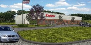 Rendering of new Trane facility on Grand Avenue