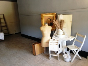 Lorie Charles, owner of Company 38 Antiques, is already collecting merchandise in her new space.