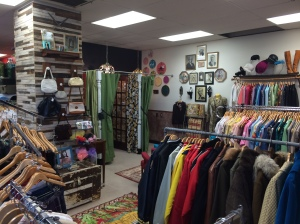 Eclectic clothes and accessories, as well as decor, are featured at Abernathy's