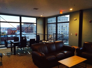 The Renwick penthouse offers stunning views of downtown Davenport